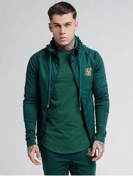 Sik Silk Zip Hoodie Through Zonal green
