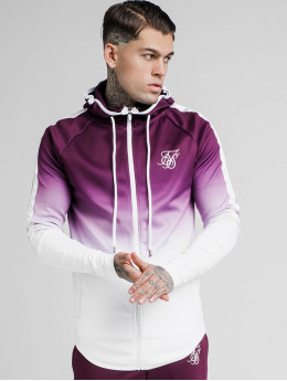 Sik Silk Zip Hoodie Fade Through Taped rot