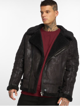 Sixth June Кожаная куртка Regular Perfecto черный