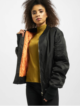 Sixth June Bomber jacket Oversized Contrast  black