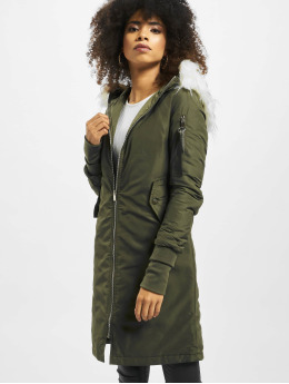Sixth June Bomberjacke Long Bomber khaki
