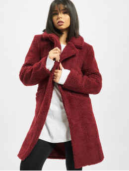 Sixth June Cappotto Long Sherpa rosso