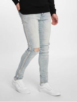 Sixth June Jeans ajustado Zipper Band azul