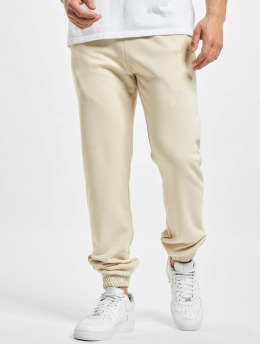 Sixth June Jogginghose Signature Velvet Logo beige