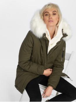 Sixth June | Oversize With Fake Fur Hood kaki Femme Manteau hiver