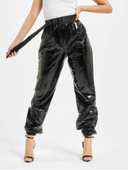 Sixth June Pantalon chino Sixth June Vinyl Pants noir