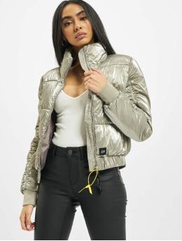 Sixth June Puffer Jacket Metallic Short Down grau