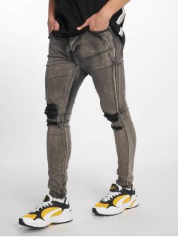 Sixth June Skinny Jeans Destroy šedá