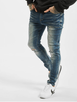 Sixth June Skinny jeans Denim Dirty blå