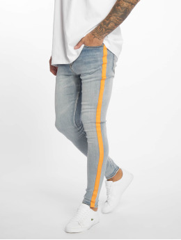 Sixth June Skinny Jeans Orange Line blau