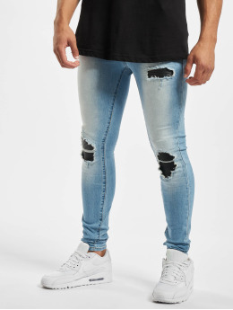 Sixth June Skinny Jeans Denim With Inside Biker Yoke blau