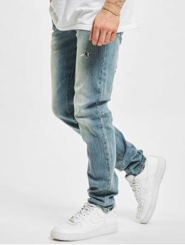 Sixth June Skinny Jeans Heavy Wash blau