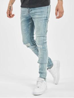 Sixth June Skinny jeans Destroy Relaxed Denim blauw