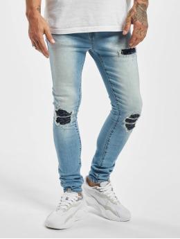 Sixth June Skinny Jeans Denim With Inside Bandana Yoke  blue