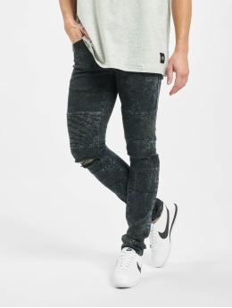 Sixth June Slim Fit Jeans Destroyed Biker black