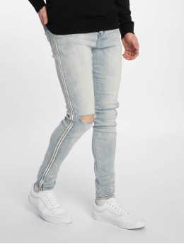 Sixth June Slim Fit Jeans Zipper Band modrá