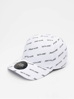 Sixth June Snapback Caps All Over bílý