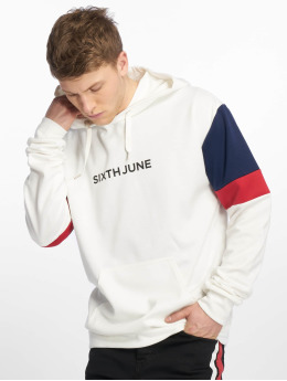 Sixth June Sweat capuche Color Blocks blanc