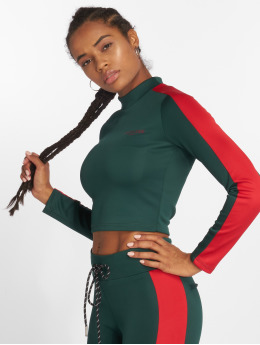 Sixth June T-Shirt manches longues Fit Cropped vert