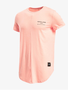 Sixth June T-Shirt Rounded With Gps Print  rosa