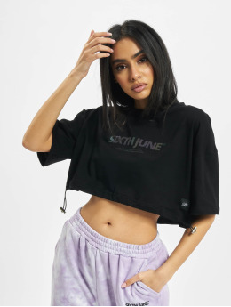 Sixth June T-Shirt Elastic Crop schwarz