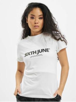 Sixth June T-Shirty Basic Logo bialy