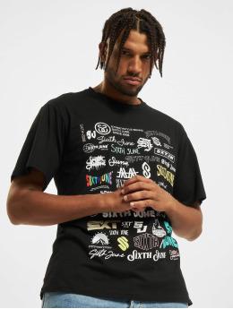 Sixth June T-Shirty Multi Logo czarny