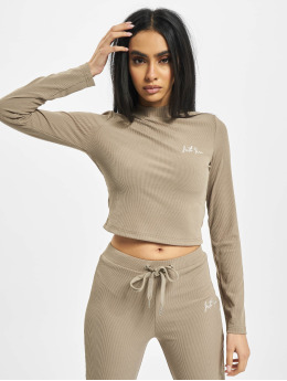 Sixth June Topper Ribbed Crop beige