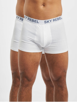 Sky Rebel boxershorts Double Pack Logo wit
