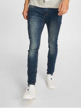 Sky Rebel Skinny Jeans Stone Washed modrý