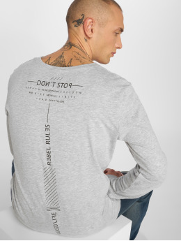 Sky Rebel T-Shirt manches longues Don't Stop gris