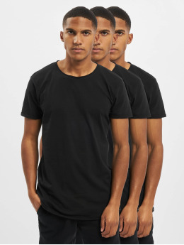 Sky Rebel T-Shirt Basic 3-Pack  schwarz