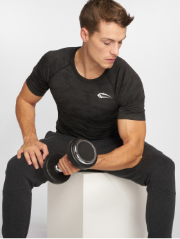 Smilodox Compressie t-shirts Seamless Camo Pattern grijs