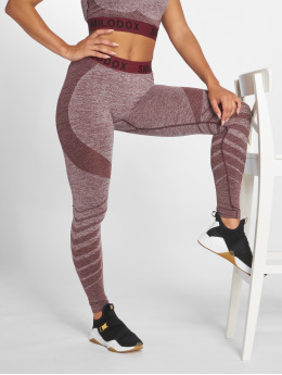 Smilodox Leggings/Treggings Seamless  czerwony