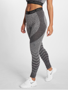 Smilodox Leggings/Treggings Seamless Vira grå