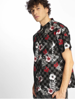 Southpole Camisa Flower & Checker Print negro