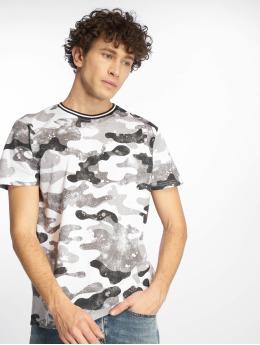 Southpole Camiseta Camo & Splatter Print gris
