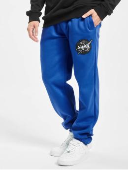 Southpole joggingbroek Nasa Insignia Logo  blauw