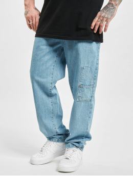 Southpole Loose Fit Jeans Script  blue
