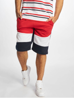 Southpole Shorts Color Block Tech Fleece rot