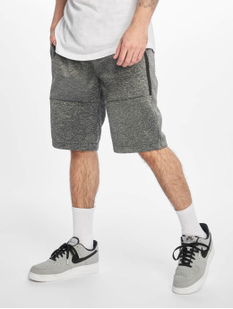 Southpole shorts Zipper Pocket Marled Tech Fleece zwart