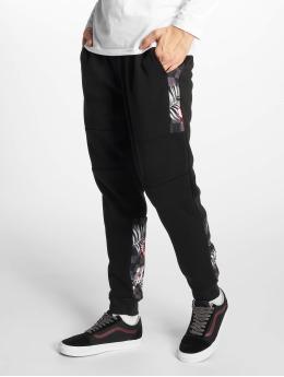Southpole Spodnie do joggingu Floral czarny