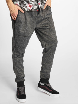 Southpole Spodnie do joggingu Marled Tech Fleece czarny