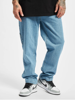 Southpole Straight fit jeans Embroidery  blauw