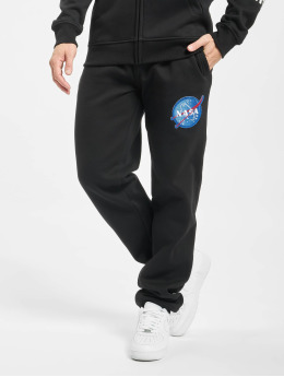 Southpole Sweat Pant Nasa Insignia Log black
