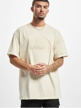 Southpole T-Shirt 3D Logo  beige