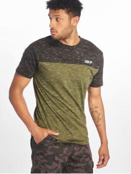 Southpole t-shirt Color Block Tech olijfgroen