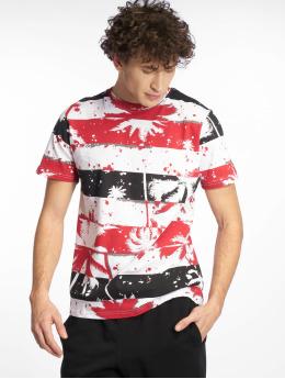 Southpole T-Shirt Palm Tree Stipe Print rot
