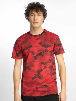 Southpole T-Shirt Camo & Splatter Print rouge