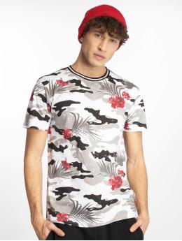Southpole t-shirt Tropical Camo Print zwart
